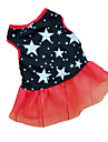 Cat / Dog Dress Black Dog Clothes Summer Stars Wedding / Cosplay