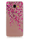 용 삼성 갤럭시 케이스 투명 / 패턴 케이스 뒷면 커버 케이스 꽃장식 TPU Samsung A5(2016) / A3(2016)