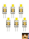 6pcs / lot g4 2w 1cob 100-150 lm dimmable quente / frio branco mr11 led bi-pin lights dc / ac 12 v