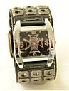 Hombre / Mujer / Unisex Reloj de Moda Cuarzo Piel Banda Calavera Negro Marca-