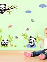 Мультипликация Мода Наклейки Простые наклейки Декоративные наклейки на стены материал Съемная Украшение дома Наклейка на стену