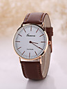 Men's White Case Leather Band Analog Quartz Wrist Watch Cool Watch Unique Watch