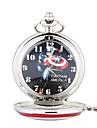Unisex Pocket Watch Captain America Pointed Star European Style Flip Pocket Watch Cool Watches Unique Watches