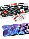 USB 2.4 게임 무선 키보드 마우스 및 패드는 멀티미디어 광 전문 키트는 방수 설정