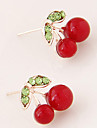 Stud Earrings Fashion White Red Green Jewelry Party Daily Casual 1 pair