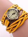 Hommes Montre Tendance / Bracelet de Montre / Bracelet Montre Quartz Montre Decontractee Cuir BandeNoir / Blanc / Bleu / Orange / Marron