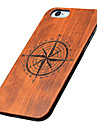 For iPhone 7 Plus Back Cover Ultra-thin / Other Wooden Hard for iPhone 6s 6 Plus SE 5s 5