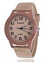 남성 패션 시계 시계 나무 캐쥬얼 시계 석영 가죽 밴드 브라운