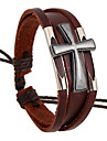Unisex Leather Alloy Handcrafted Vintage Bracelets