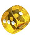 royal st. a frappe 18 couleurs mm resine ronde jeux de des transparents materiau de protection de l\'environnement 10 / paquet