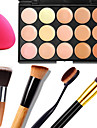 15 Консилер/Contour+КонсилерПуховка для пудры/Бьюти-блендер / Кисти для макияжа влажный / Матовое стекло / Отблеск Лицо / КорпусВлажность