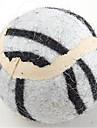 Игрушка для собак Игрушки для животных Шарообразные Игровая мышь Мячи для тенниса Текстиль Белый Желтый Коричневый