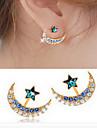 Серьги-гвоздики Сплав Имитация Алмазный Мода В форме звезды Черный Синий Золотой Бижутерия Повседневные 1 пара