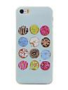 Для Кейс для iPhone 5 Прозрачный / С узором Кейс для Задняя крышка Кейс для Мультяшная тематика Мягкий TPU Apple iPhone SE/5s/5