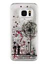 Dandelion Back Cover Flowing Quicksand/Liquid/Other Glitter Shine Plastic(PC) HardSamsung Galaxy S7 edge/Galaxy S7