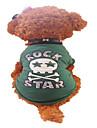 Собаки Футболка Зеленый Одежда для собак Лето Буквы и цифры