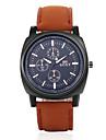SOXY® Men\'s  Leather Band Black Case Analog Quartz Dress Watch(NO Water Ressistant)