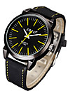 Men\'s Fashion Watch Casual Watch Quartz PU Band Stripe Black