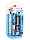 caneta canetas, metal / cor de gravacao de plastico (azul)