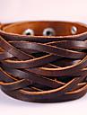 Муж. Wrap Браслеты Кожаные браслеты Кожа Мода Богемия Стиль обожаемый Геометрической формы Черный Коричневый Бижутерия 1шт