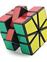 Shengshou® 부드러운 속도 큐브 3*3*3 / 에일리언 형광 / 전문가 수준 매직 큐브 블랙 페이드 / 아이보리 플라스틱