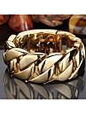 Браслеты Браслеты-цепочки и звенья Нержавеющая сталь Геометрической формы Мода Для вечеринок Бижутерия Подарок Золотой,1шт