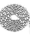 Муж. Женский Ожерелья-цепочки Титановая сталь Мода Серебряный Бижутерия Повседневные 1шт