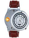 Herr Unisex Modeklocka Unik Creative Watch Armbandsur Ljusare Quartz Gummi Band Vintage Kreativ Brun