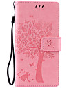 PU Leather Material Cat and Tree Pattern Phone Case for Sony Xperia Z5/Z4/Z3/M5/M4/M2/C6/C5/X/XA