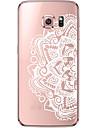 Pour Samsung Galaxy S7 Edge Transparente Motif Coque Coque Arriere Coque Mandala Flexible PUT pour SamsungS7 edge S7 S6 edge plus S6 edge
