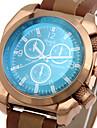 남성 스포츠 시계 밀리터리 시계 패션 시계 손목 시계 / 석영 가죽 밴드 멋진 캐쥬얼 블랙 브라운