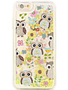 Back Flowing Quicksand  Liquid Pattern Owl PC Hard Case Cover For Apple iPhone 6s Plus/6 Plus/iPhone 6s/6/iPhone 5/5s/SE