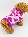 Собаки Свитера Розоватый Одежда для собак Зима / Весна/осень Сердца Мода Other
