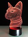 Новый 3d моды привело ночь свет кошка головы акриловые красочные градиент атмосфера лампа usb спальня стол дома кафе бар декор 7colors