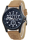Men\'s Fashion Watch Wrist watch / Quartz Leather Band Cool Casual Brown Khaki
