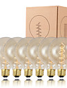GMY 6PCS G95 Edison Bulb Spiral Filament Vintage bulb 40W E26/E27 Decorate Bulb