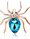 Women\'s Fashion Personality Cute Big Spider Brooch Crystal Diamond Exquisite Brooch Jewelry Gift