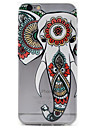 Elephant Pattern TPU Material Embossment Craft Transparent Case for iPhone 7 7 Plus 6s 6 Plus