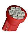 10 배 빨간 T10의 W5W 2825 158 168 192 921 906 8 SMD LED 속도계 악기 등