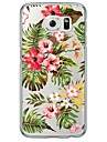 Pour Samsung Galaxy S7 Edge Ultrafine Translucide Coque Coque Arriere Coque Fleur Flexible PUT pour SamsungS7 edge S7 S6 edge plus S6