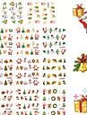 11 Designs Nail Art Christmas Stickers Santa Claus Nail Beauty BLE1577-1587