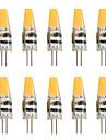 6 G4 Luci LED Bi-pin T 1 COB 450 lm Bianco caldo / Luce fredda Decorativo AC 12 V 10 pezzi