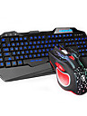 Rainbow Backlights Gaming Wired USB Keyboard & Mouse 2 Pieces a Set