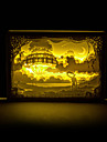 1PC   Hayao Miyazaki Sky City  Three-Dimensional Carving  Silhouette Lamp Night Light  Photo Frame  Lamp