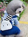 Собаки Комбинезоны Одежда для собак Зима Весна/осень Животный принт Милые Мода Светло-синий Светло-Зеленый