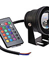 DC12V IP67 Waterproof RGB 10W Colorful Remote Control Underwater Lamp 1Pc