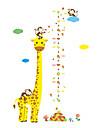 Животные / Рождество / Мода Наклейки Простые наклейки Декоративные наклейки на стены / Линейка роста,PVC материалВлажная чистка / Съемная