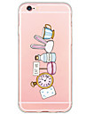 Pour Coque iPhone 6 Coques iPhone 6 Plus Etuis coque Ultrafine Translucide Coque Arriere Coque Dessin Anime Flexible PUT pour AppleiPhone