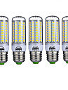 15W E26/E27 Ampoules Mais LED T 72 SMD 5730 980LM lm Blanc Chaud / Blanc Froid Decorative AC 100-240 V 5 pieces