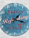 Модерн Семья Настенные часы,Круглый Дерево 34*34*3cm В помещении Часы